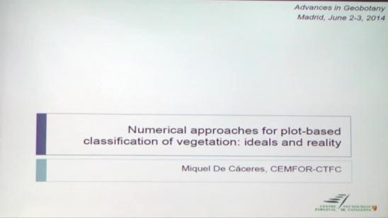 Aproximaciones numéricas para la clasificación de la vegetación mediante análisis de parcelas: teoría y realidad