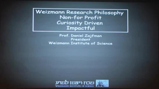 Weizmann Research Philosophy Non-for Profit Curiosity Driven Impactful