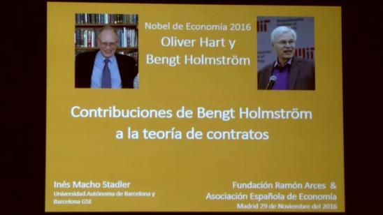 Contribuciones de Bengt Holmström a la teoría de contratos